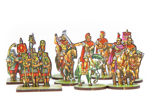18mm Roman Commanders, Scorpions, Aux Cav