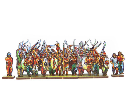 18mm Dacian Flaxmen and Heavy Infantry