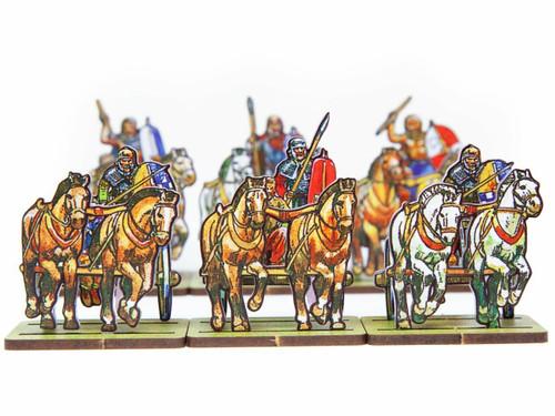 18mm Roman War Elephants and British Chariots