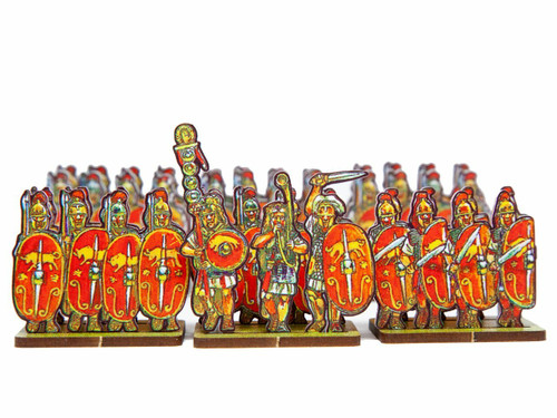 18mm Caesar's Infantry, red bull shields and yellow bull shields