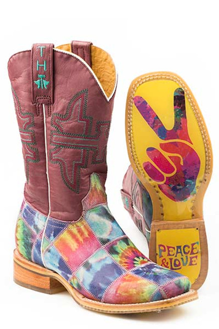 TRIPPY CHECK/PEACE AND LOVE SOLE