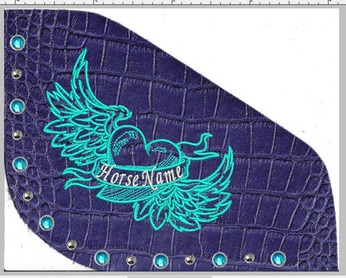 OG Best Ever Pad with Heart/Angel Wings and Horse/person name