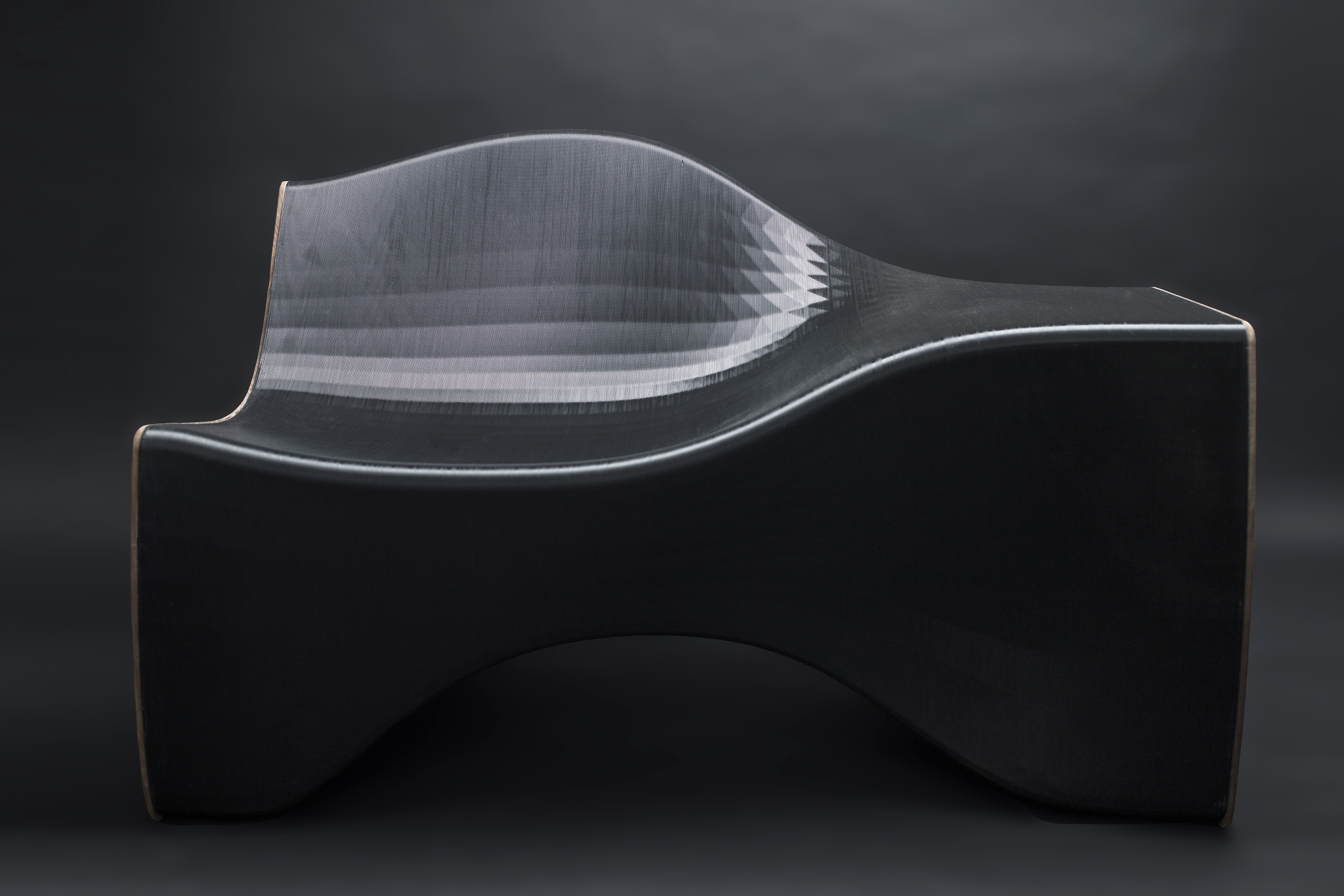 Image of an artfully designed chaise lounge