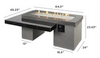 Outdoor Greatroom Black Uptown Linear Gas Fire Pit Table