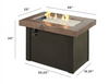 Outdoor Greatroom Brown Providence Rectangular Gas Fire Pit Table