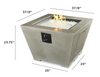 Outdoor Greatroom Cove Square Gas Fire Pit Bowl