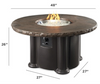 Outdoor Greatroom Marbleized Noche Colonial Chat Height Round Gas Fire Pit Table