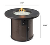 Outdoor Greatroom Stonefire Gas Fire Pit Table