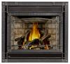 PHAZER Logs, Newpor  Brick Panels, Scalloped Wrought Iront Front