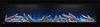 Alluravision NEFL60CHD Deep Straight LogSet Ember Bed Top Light White Flame Blue