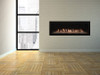 Empire Boulevard 48 inch Linear Direct Vent Fireplace - DVLL48, Shown with Crushed Glass Porcelain Liner and LED Lighting Kit