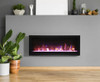 "Amantii 50"" Clean face Electric Built-in with Log and Glass, Black Steel Surround"