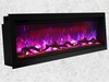 "Amantii 42"" Extra Tall Clean Face Electric Built-in with Black Steel Surround"