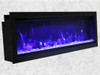 "Amantii 50"" Extra Tall Clean Face Electric Built-in with Black Steel Surround"