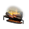 The Revillusion Flame Technology - Flames are larger, brighter and more random, appearing from within the logs.
