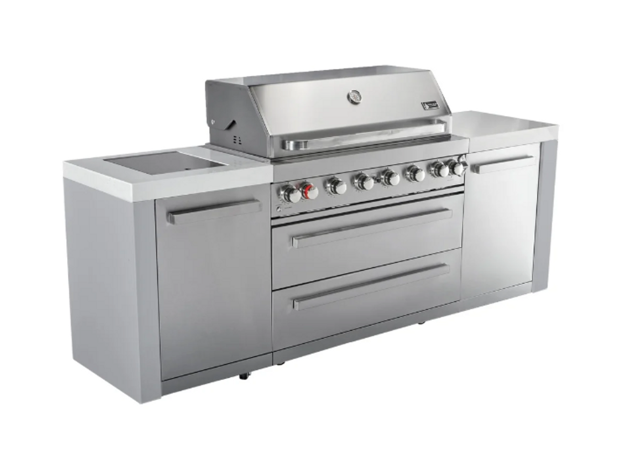 Mont Alpi Complete Outdoor Kitchen Gas Grill Island