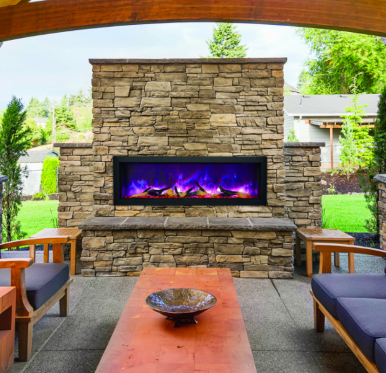 Amantii Panorama Series - Indoor / Outdoor Electric ... on Embers Fireplaces & Outdoor Living id=98426
