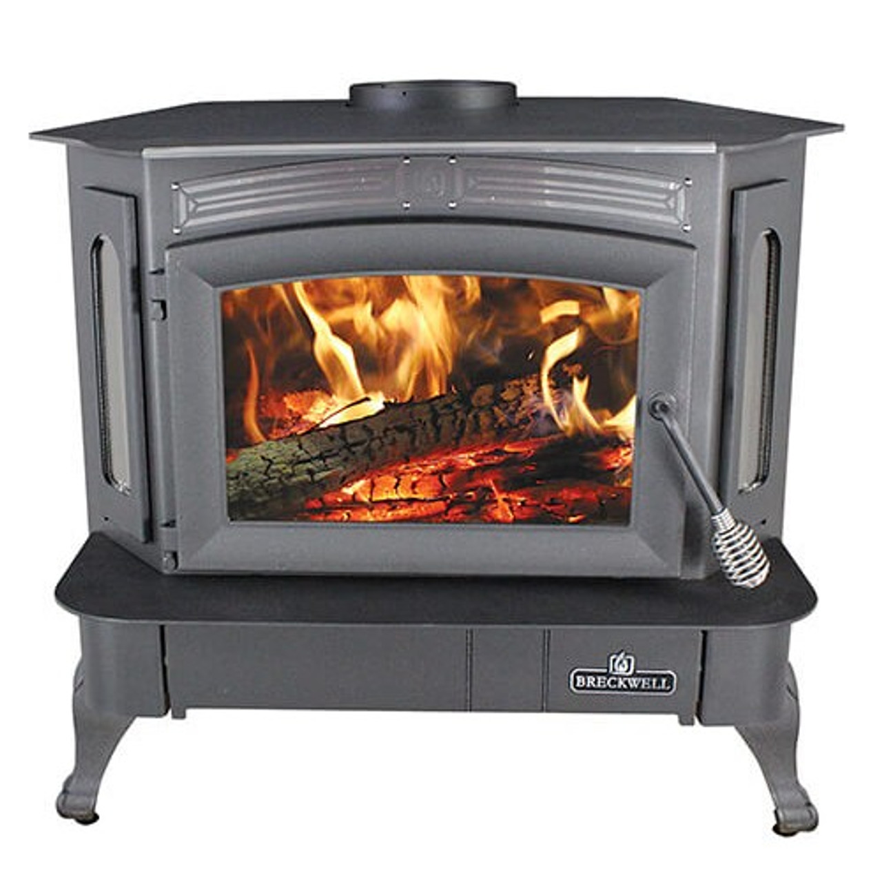 Breckwell SW940 Bay Front Wood Stove/Insert with Legs