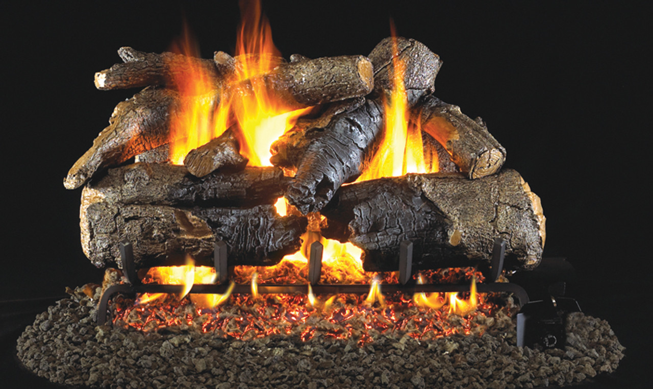 Realfyre Charred American Oak with G4 (Glowing Ember ... on Embers Fireplaces & Outdoor Living id=90162