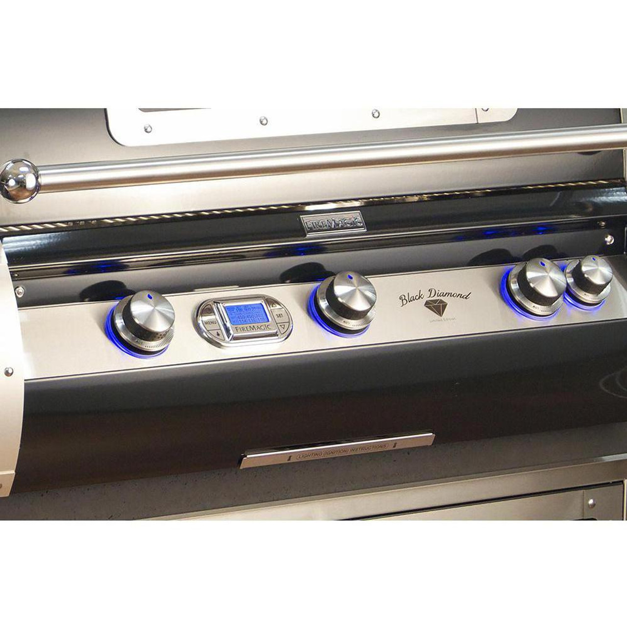 Firemagic Black Diamond Edition  Built-In Grills - H790i with Magic View Window and Left Side Infrared Burner