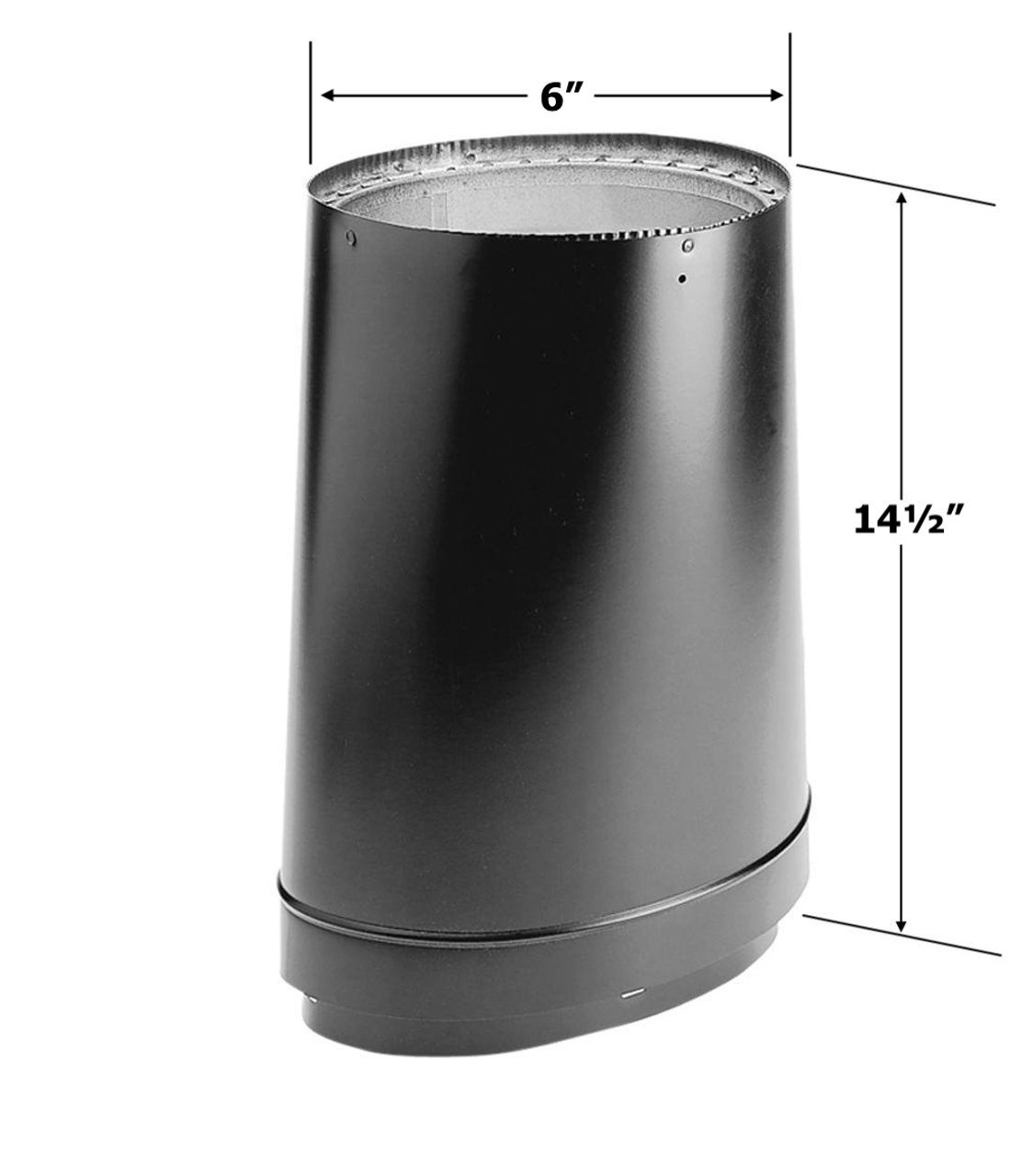 DuraVent Oval to Round Stove Adapter 6DVL-ORAD for Vermont Castings