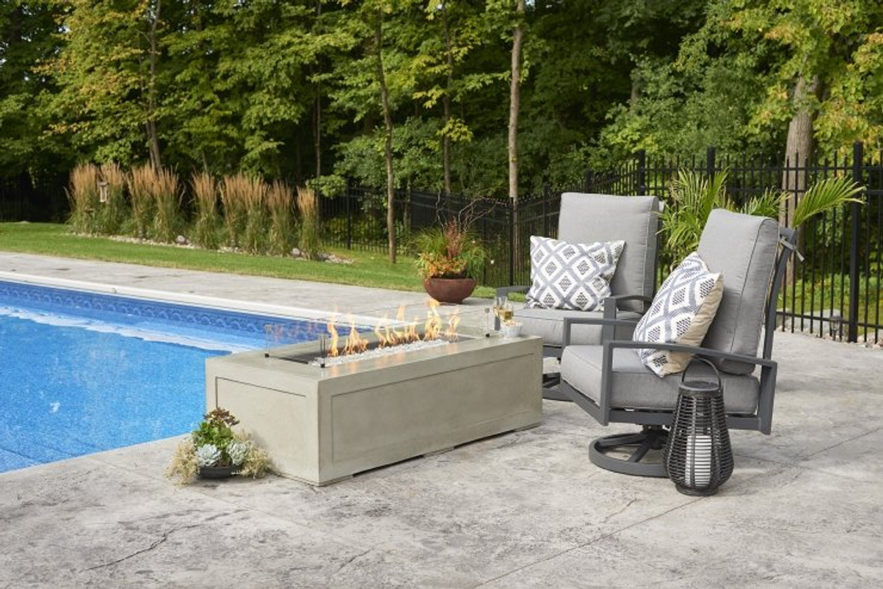 Outdoor Greatroom Cove Linear Gas Fire Pit Table