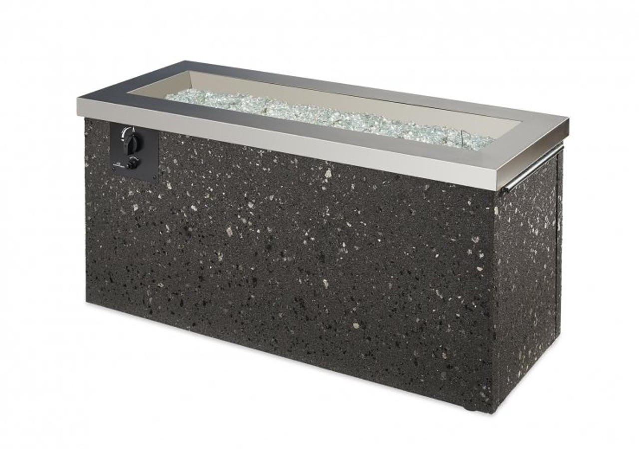 Outdoor Greatroom Stainless Steel Key Largo Linear Gas Fire Pit Table
