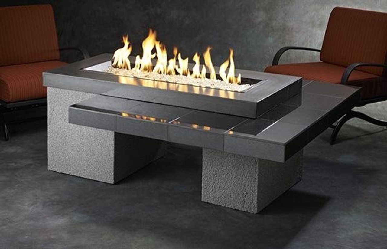 Buy Outdoor Greatroom Black Uptown Gas Fire Pit Table Embers Living