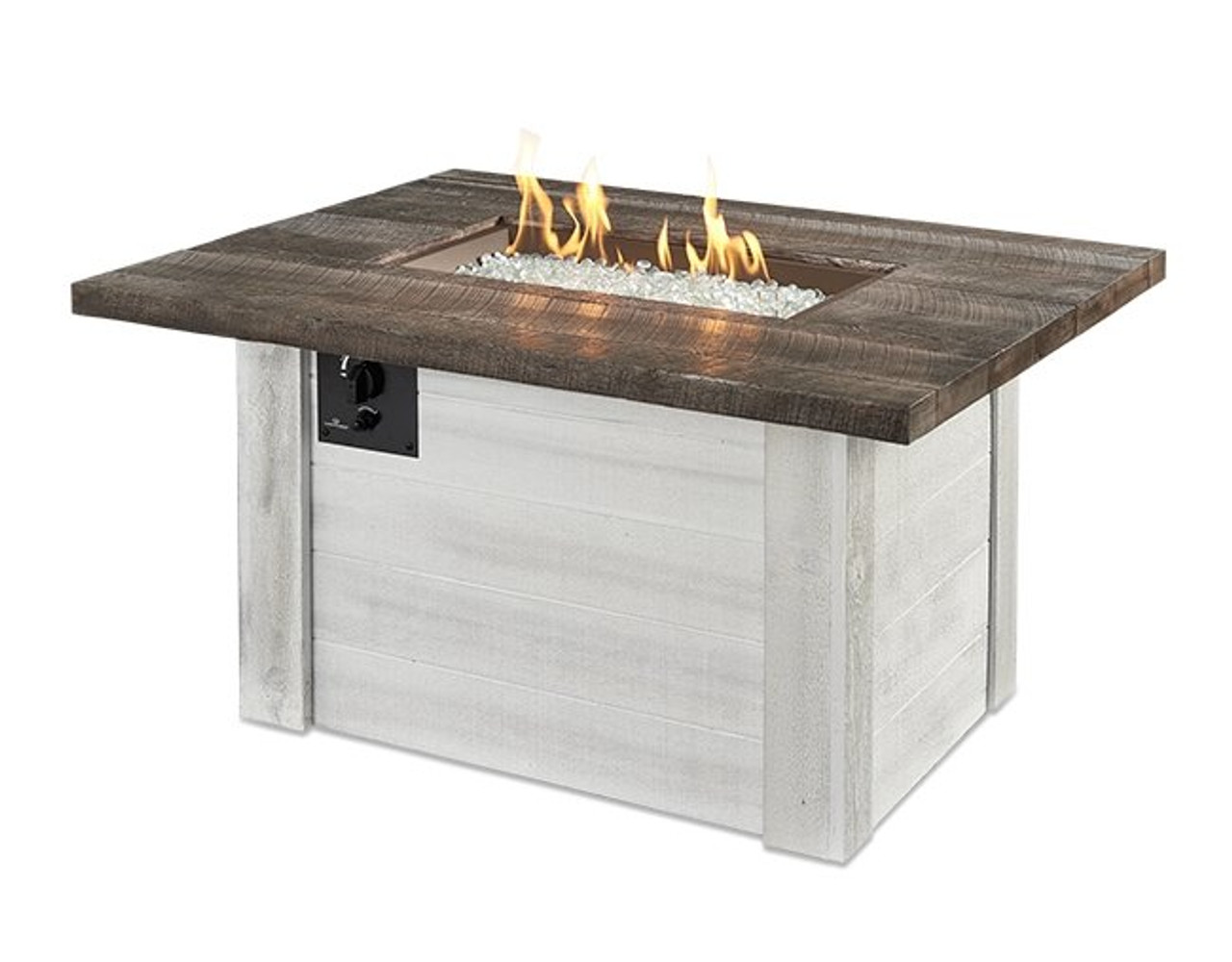 Outdoor Greatroom Alcott Rectangular Gas Fire Pit Table
