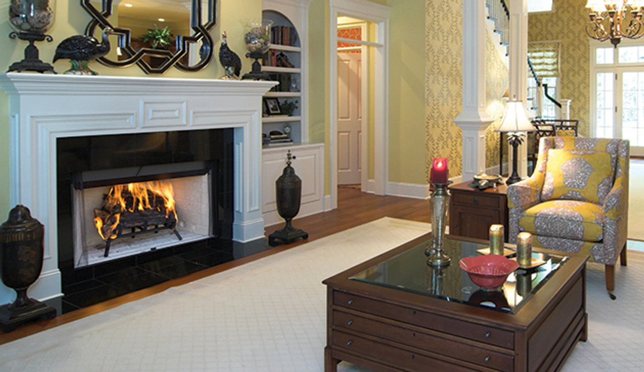"""Superior 42"""" Wood-Burning Fireplaces, Radiant, Louvered - Insulated White Stacked Refractory Panels - WRT/WCT 3042"""
