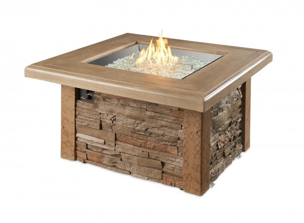 Outdoor Greatroom Sierra Square Gas Fire Pit Table