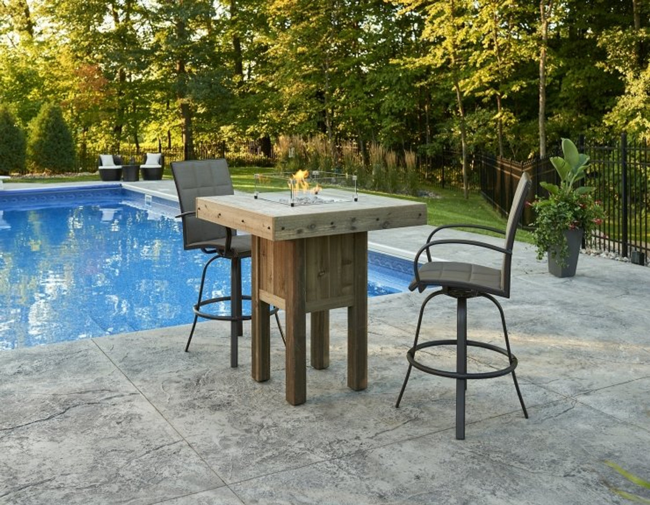 Amazing Outdoor Greatroom Westport Square Pub Height Gas Fire Pit Table Uwap Interior Chair Design Uwaporg