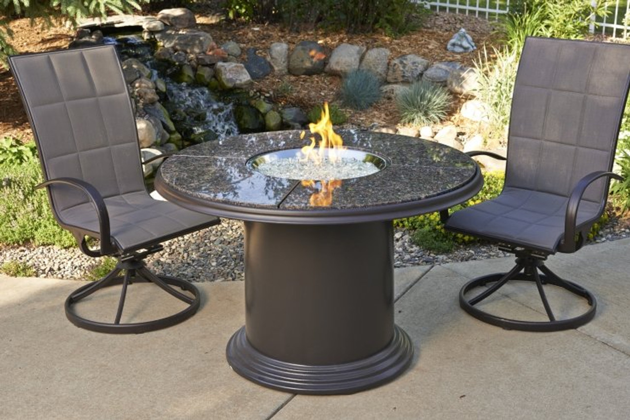 Outdoor Greatroom Brown Grand Colonial Dining Height Gas Fire Pit Table