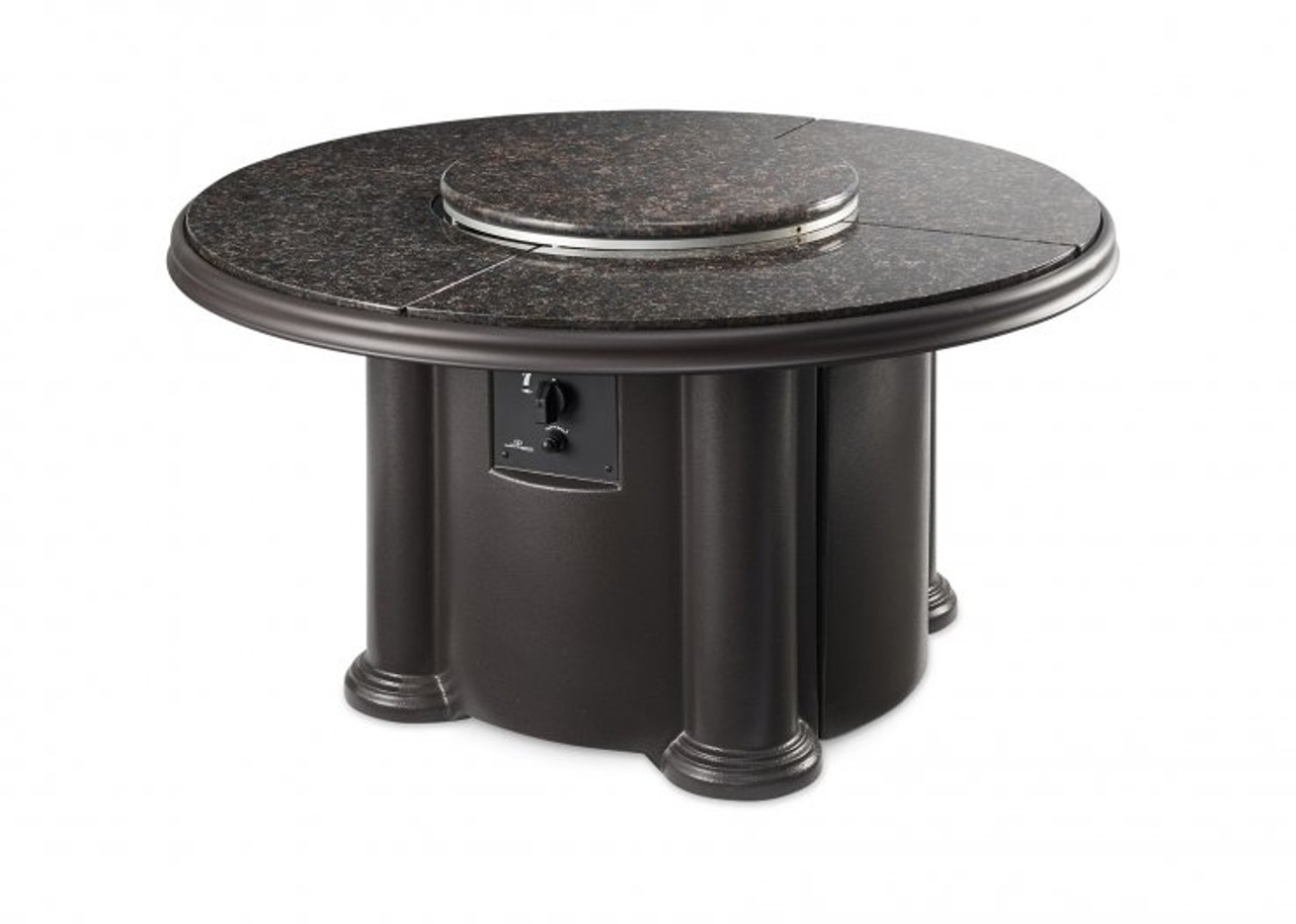 Outdoor Greatroom Brown Grand Colonial Chat Height Gas Fire Pit Table