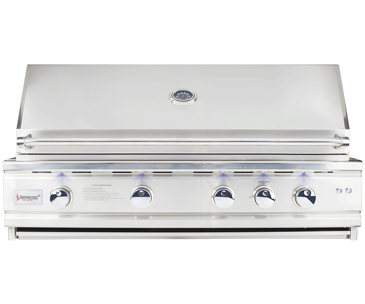 """The Deluxe 44"""" Includes various upgrades that can only be found on this model, such as cast stainless steel burners, ceramic briquettes, zone separators, and thick 9mm cooking grates, don't miss out on the TLD44"""