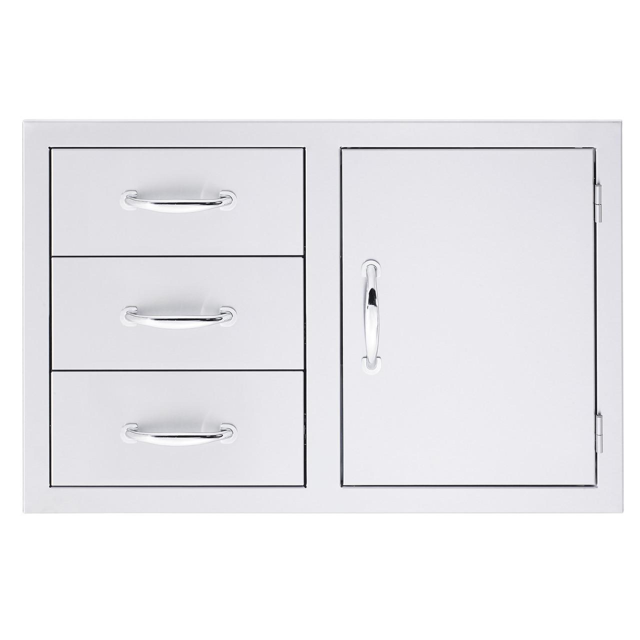 Summerset Door/3-Drawer Combo - Storage Drawers - SSDC-3