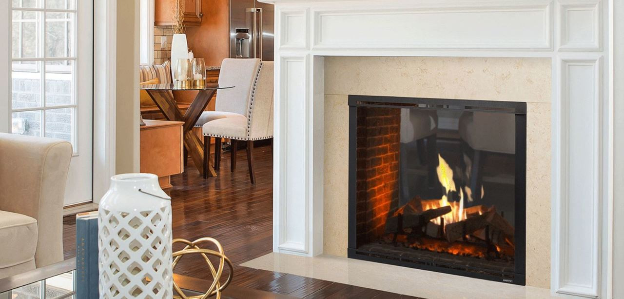 """Majestic Marquis II 42"""" See-Through- Top, Direct Vent Fireplace with IntelliFire Touch Ignition (NG)"""