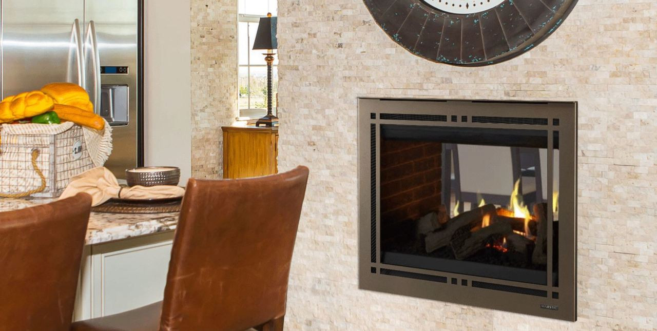 """Majestic Pearl II 36"""" See Through Direct Vent Multi Side Top/Rear Gas Fireplace with Intellifire Touch Ignition (NG)"""