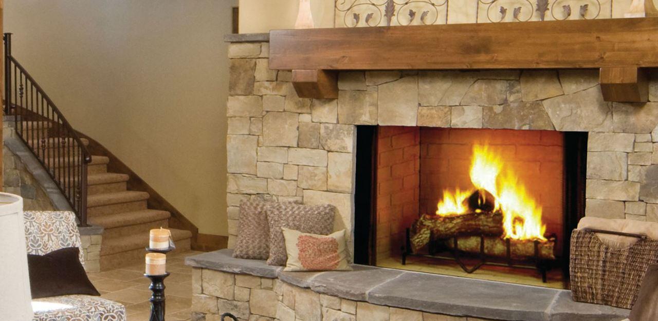 "Majestic Biltmore 36"" Radiant Wood Burning Fireplace"