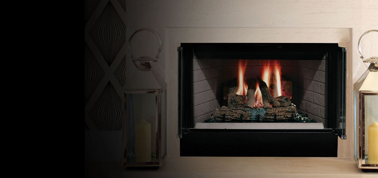 """Majestic Sovereign 36"""" Heat Circulating/Radiant Fireplace"""