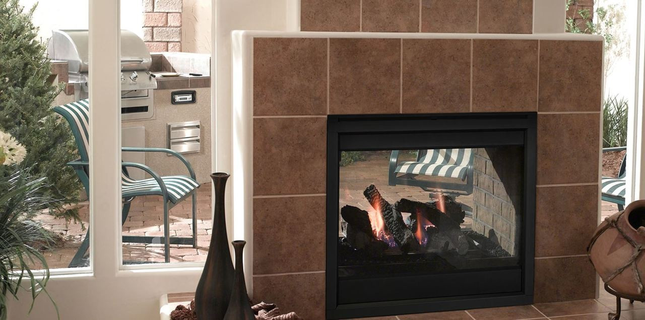 Majestic Twilight Ii Indoor Outdoor Fireplace With Intellifire