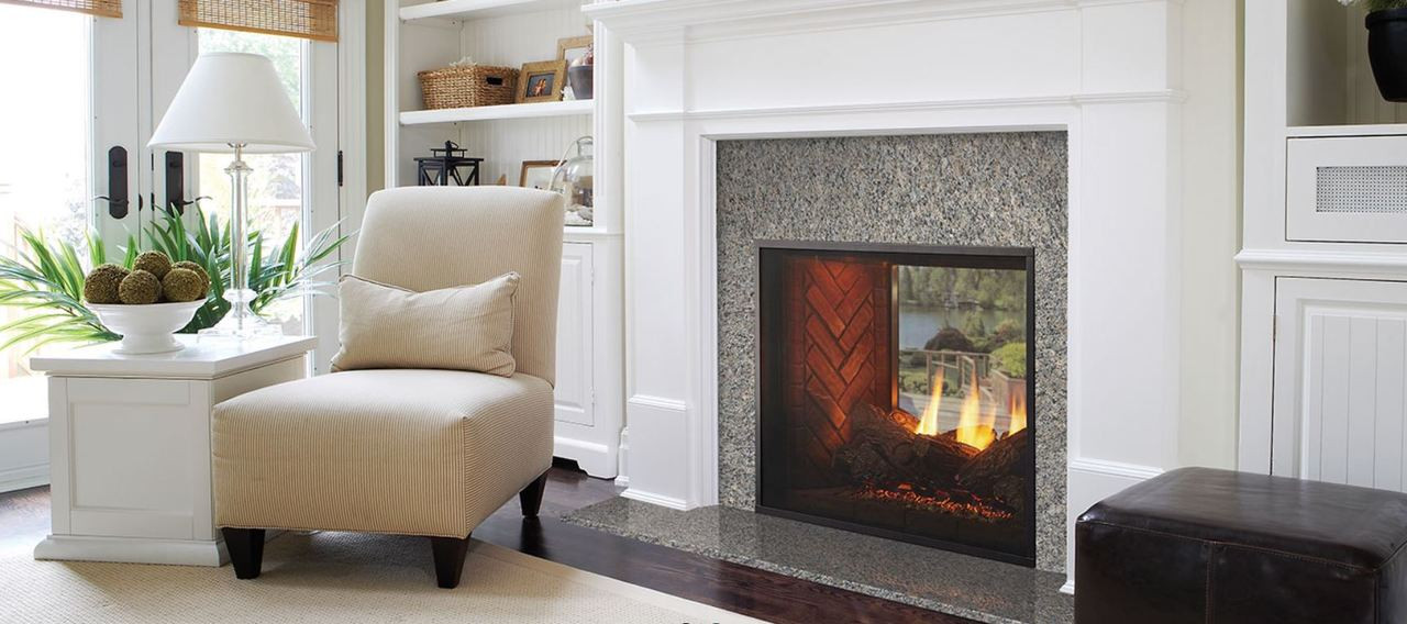 Majestic Fortress Indoor Outdoor Gas Fireplace With Intellifire