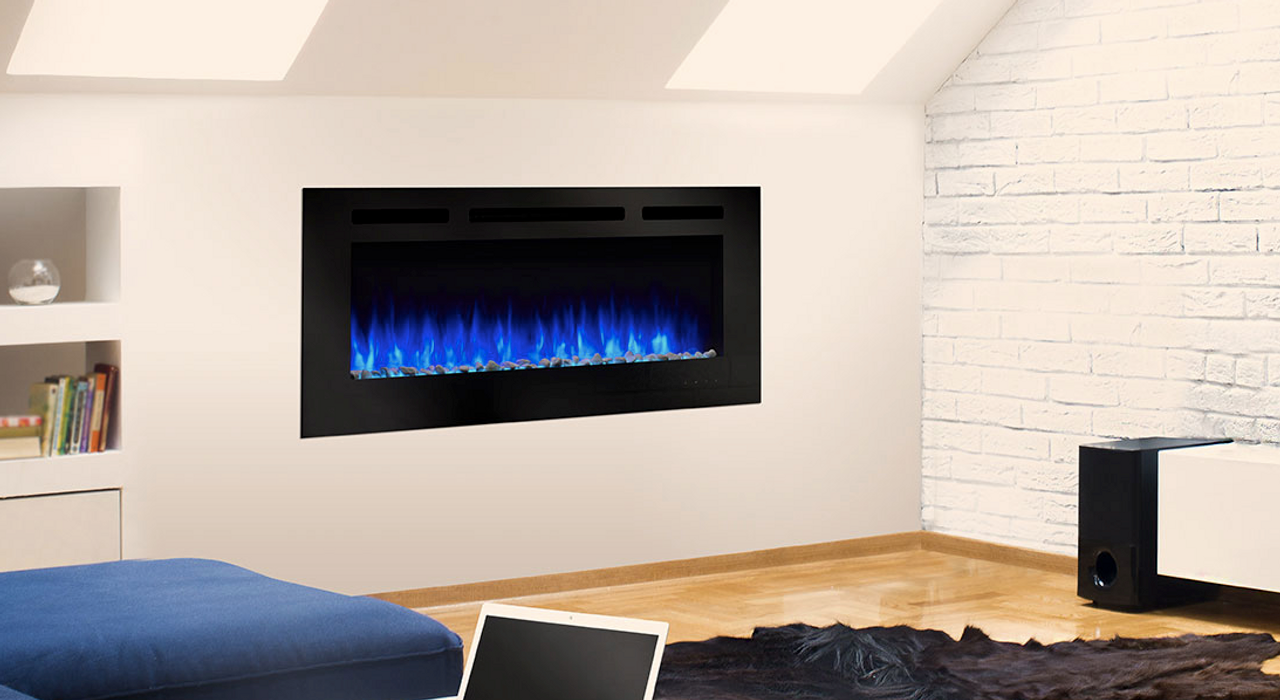 """Majestic Allusion 60"""" Recessed Linear Electric Fireplace"""