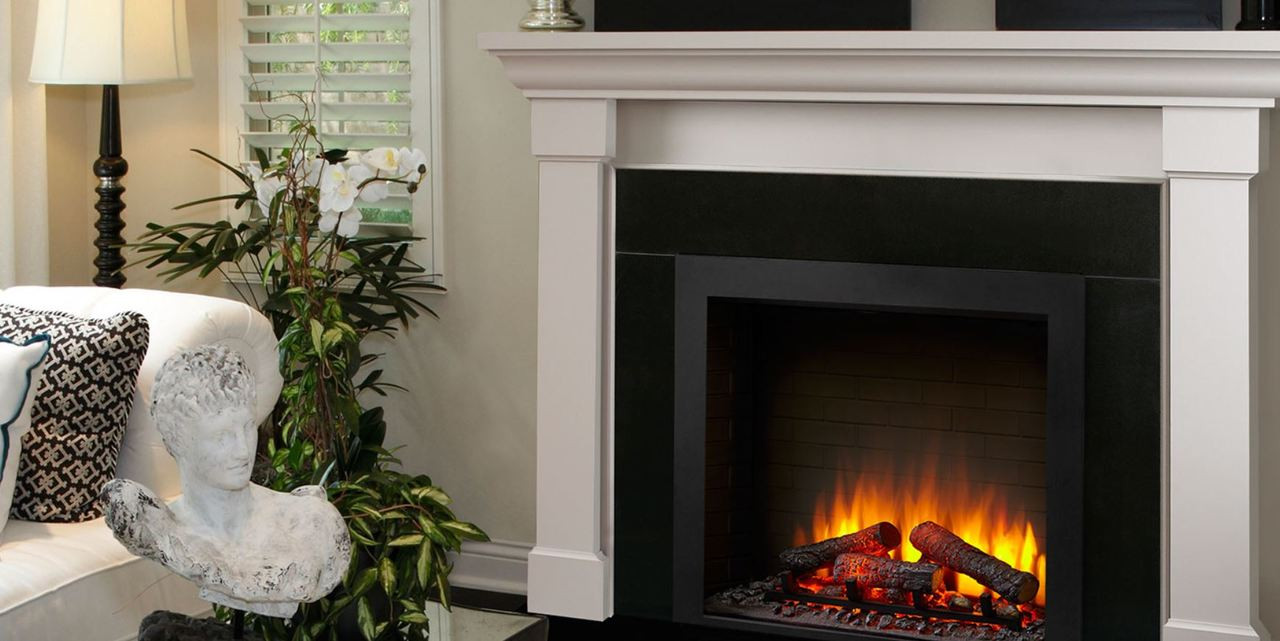 """Majestic 30"""" Electric Built-In Fireplace"""
