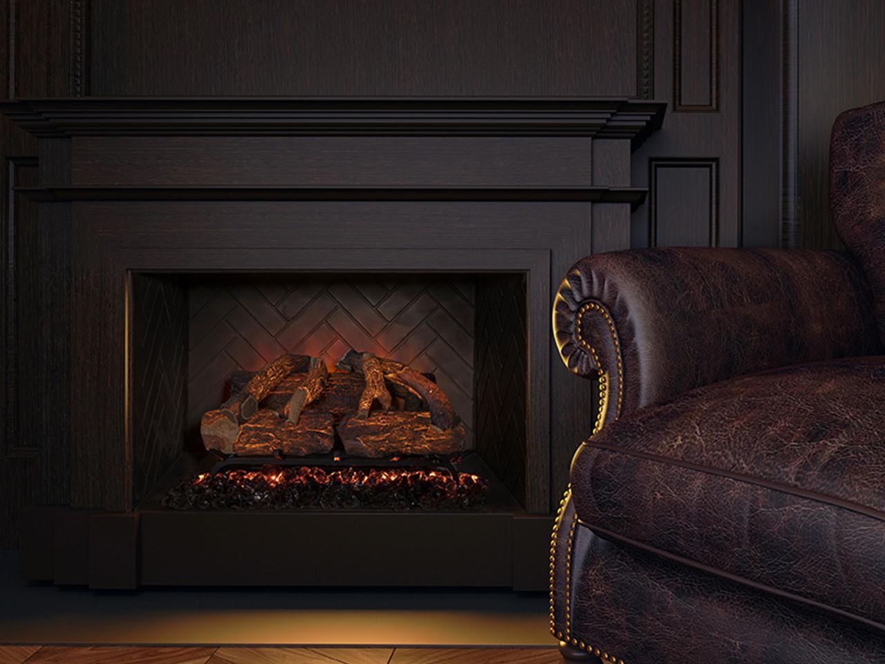 Peachy Sunset Charred Oak Electric Log Set Modern Flames W Optional Battery Sco 26El Interior Design Ideas Gentotryabchikinfo