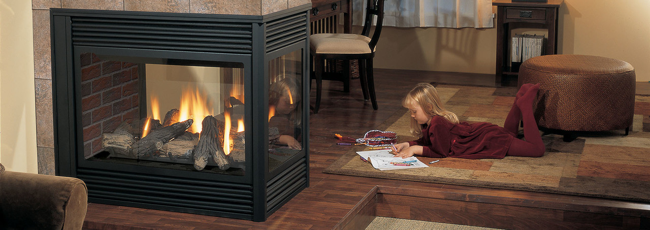 Regency Panorama® P131 - 3-Sided Pier Large Gas Fireplace