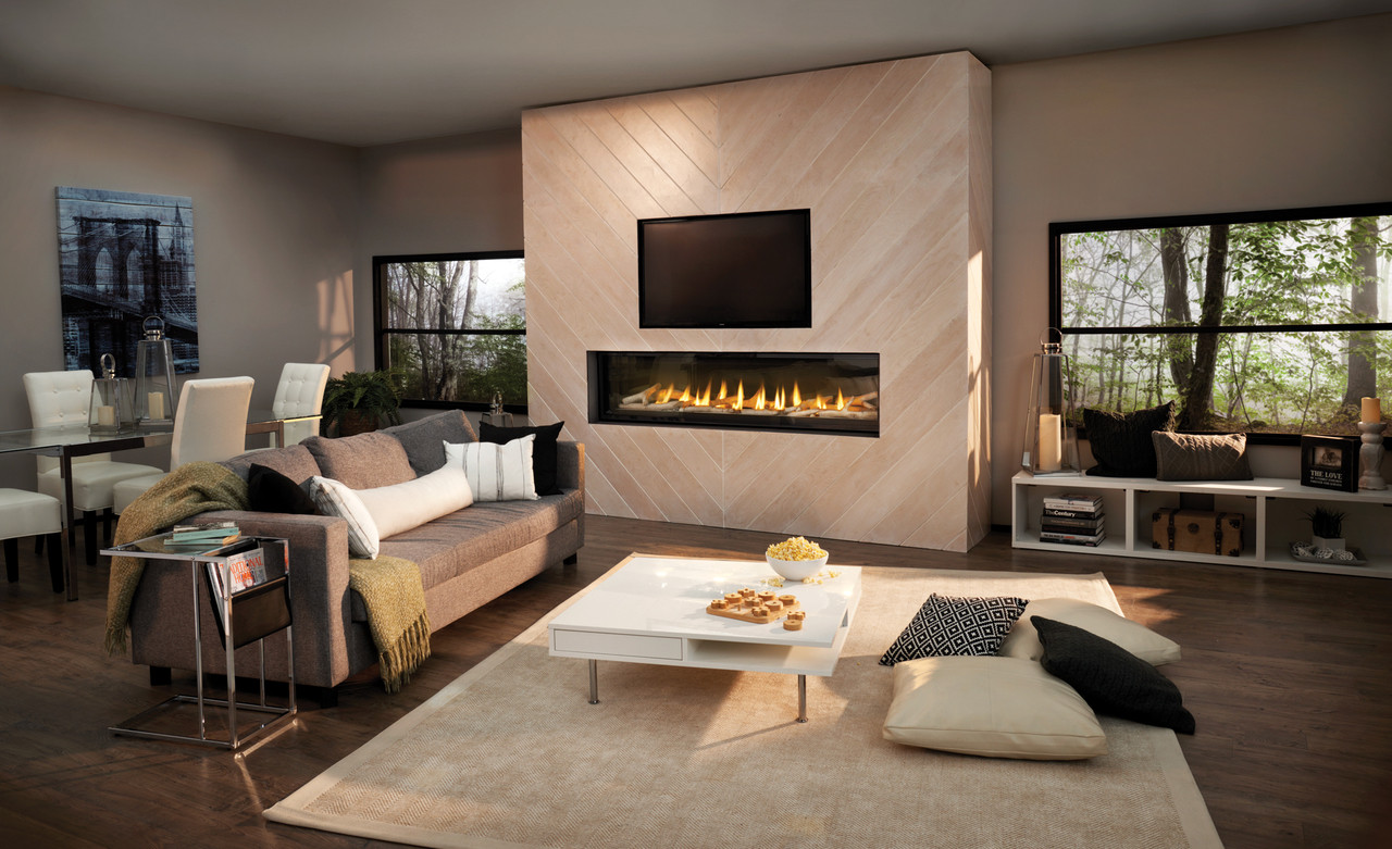 "Napoleon Luxuria 74"" Single Sided Direct Vent Gas Fireplace 74"" - LVX74NX"