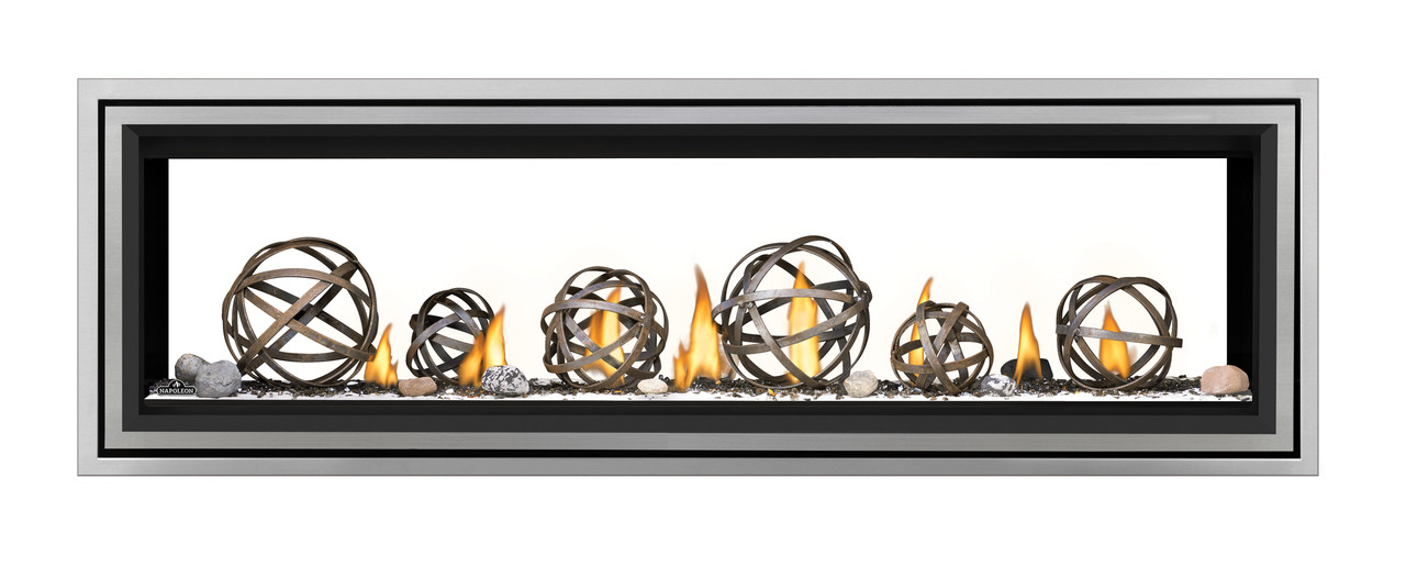 """Napoleon Vector 62"""" See Thru Direct Vent Gas Fireplace - LV62N2"""