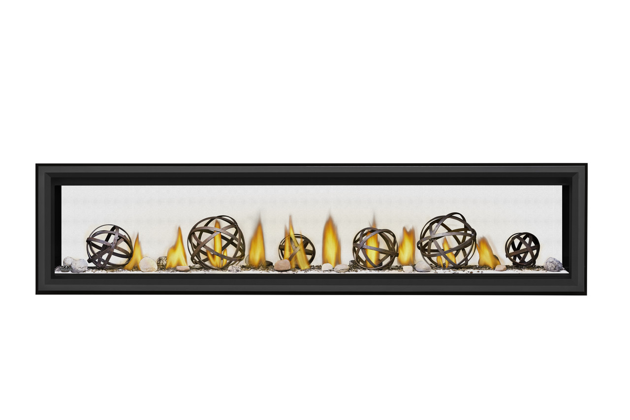 """Napoleon Vector 74"""" See Thru Direct Vent Gas Fireplaces - LV74N2"""