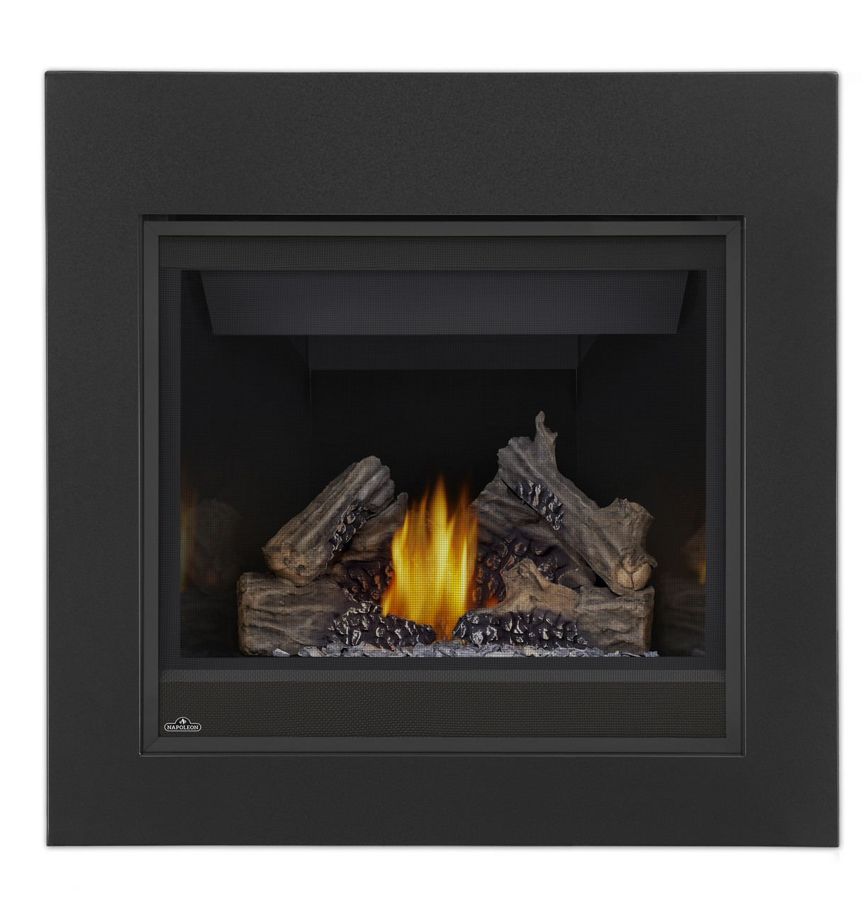 PHAZER Log Set, CFF Front, MIRRO-FLAME Porcelain Reflective Radiant Panels